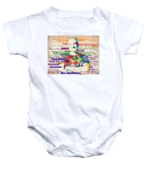 Robin Williams Tribute Baby Onesie