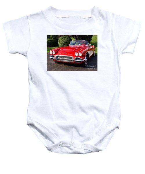 Route 66 - 1961 Corvette Baby Onesie