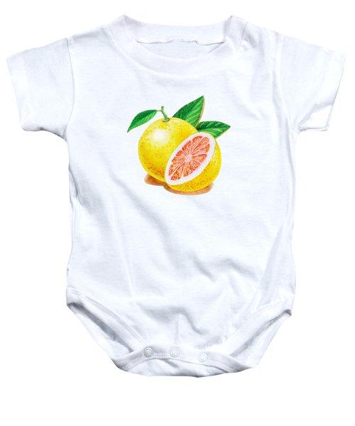 Ruby Red Grapefruit Baby Onesie