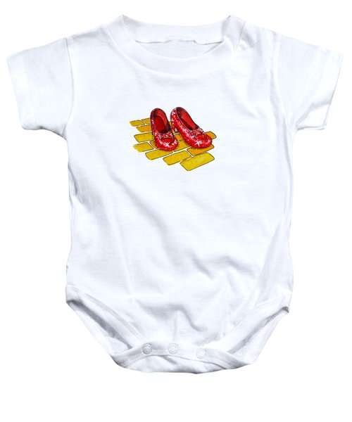 Ruby Slippers The Wizard Of Oz  Baby Onesie