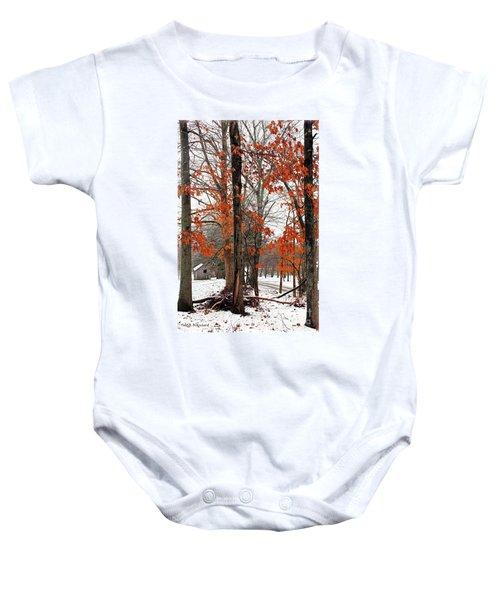 Rustic Winter Baby Onesie