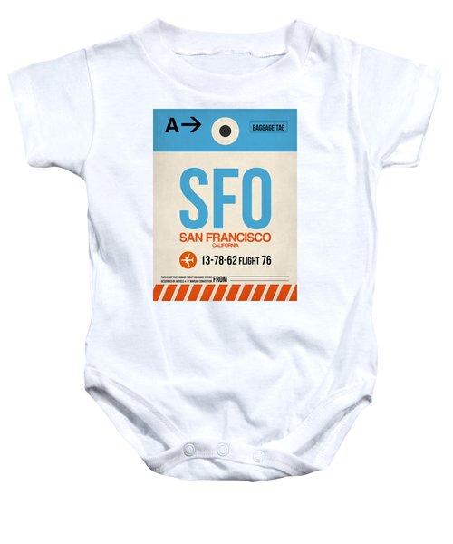San Francisco Luggage Tag Poster 1 Baby Onesie