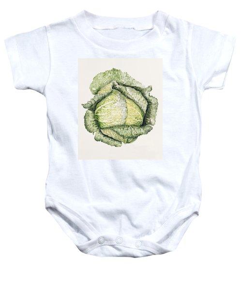 Savoy Cabbage  Baby Onesie by Alison Cooper