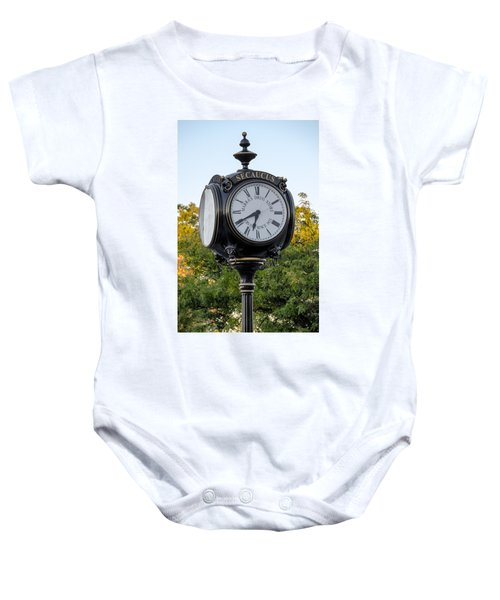 Secaucus Clock Marras Drugs Baby Onesie