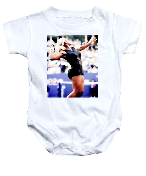 Serena Williams Catsuit Baby Onesie by Brian Reaves