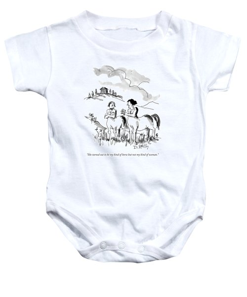 She Turned Out To Be My Kind Of Horse But Baby Onesie