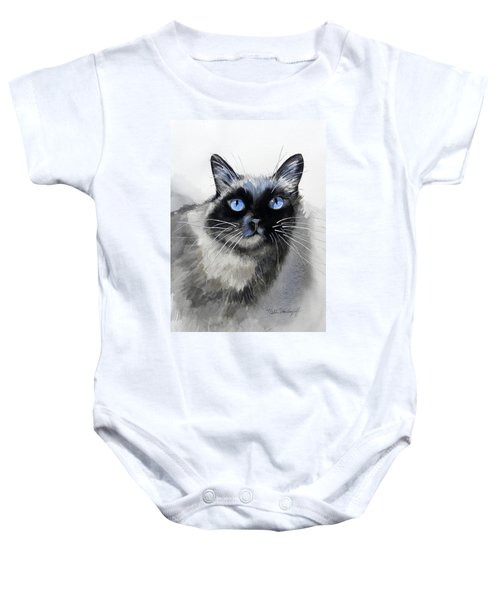 Siamese Cat Baby Onesie