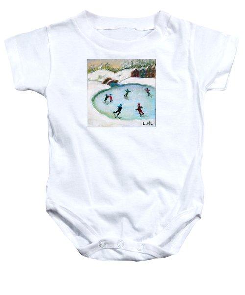 Skating Pond Baby Onesie