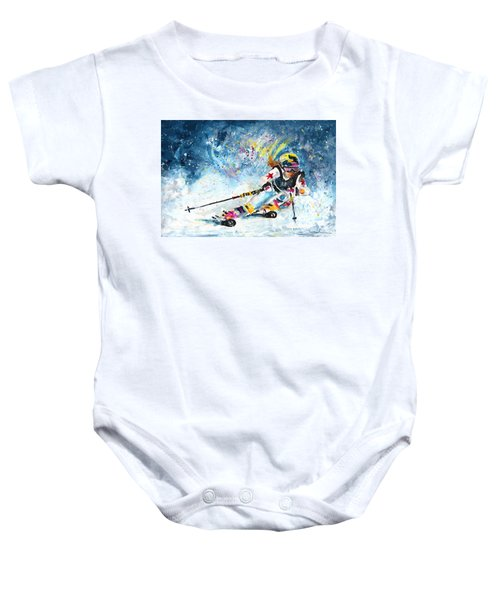 Skiing 03 Baby Onesie