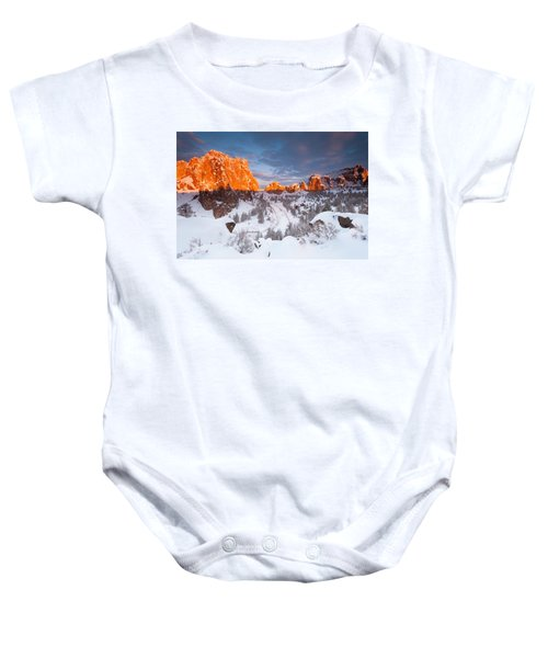 Smith Rock Snow Storm Baby Onesie