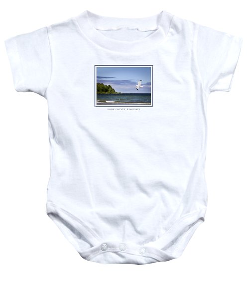 Soaring Over Door County Baby Onesie