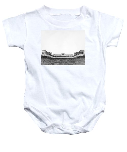 Soldiers' Field And Museum Baby Onesie by Underwood Archives