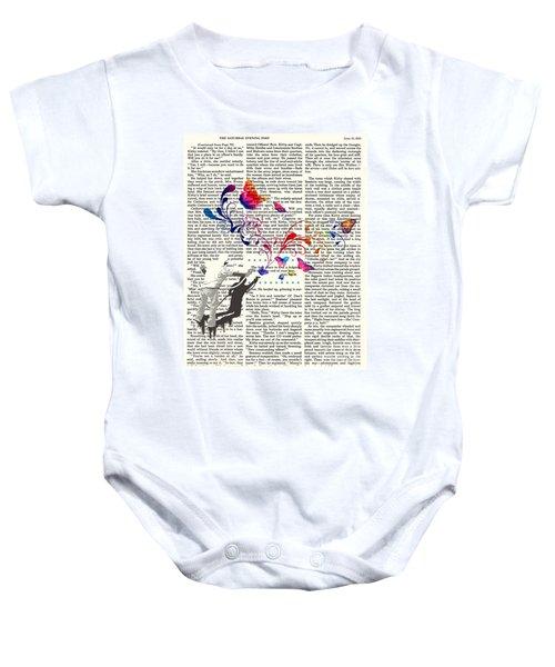 Spray Natura Graffiti Art Print Baby Onesie