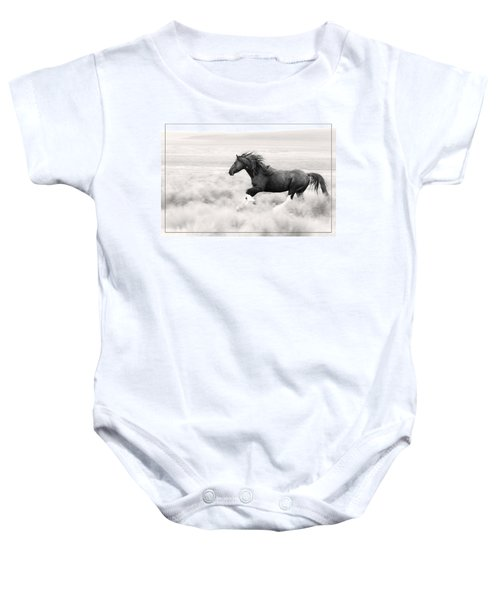 Stallion Blur Baby Onesie