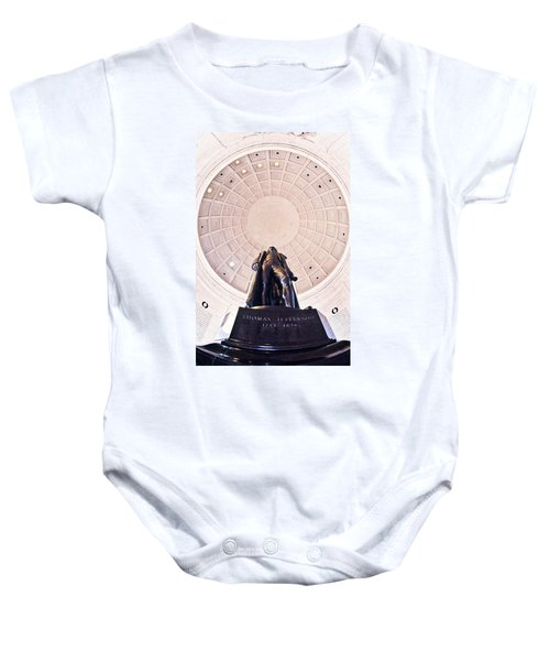 Statue Of Thomas Jefferson Baby Onesie by Panoramic Images