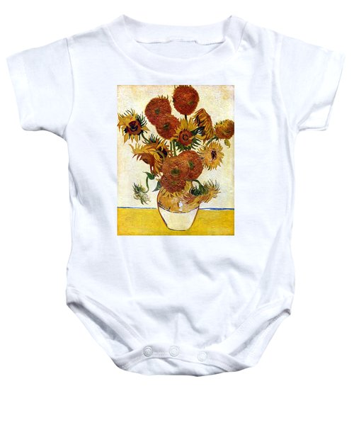 Still Life With Sunflowers Baby Onesie
