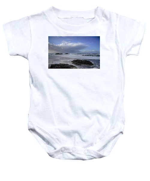 Storm Rolling In Wickaninnish Beach Baby Onesie