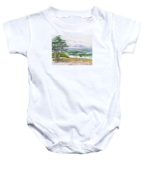 Stormy Morning At Carmel By The Sea California Baby Onesie