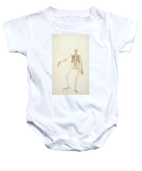 Study Of The Human Figure, Anterior View, From A Comparative Anatomical Exposition Of The Structure Baby Onesie