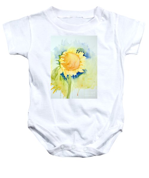 Sunflower 1 Baby Onesie
