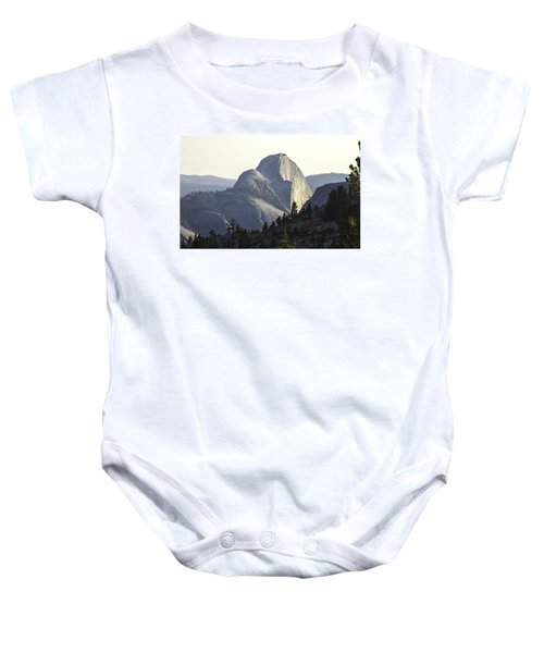 Sunset At Half Dome From Olmsted Pt Baby Onesie