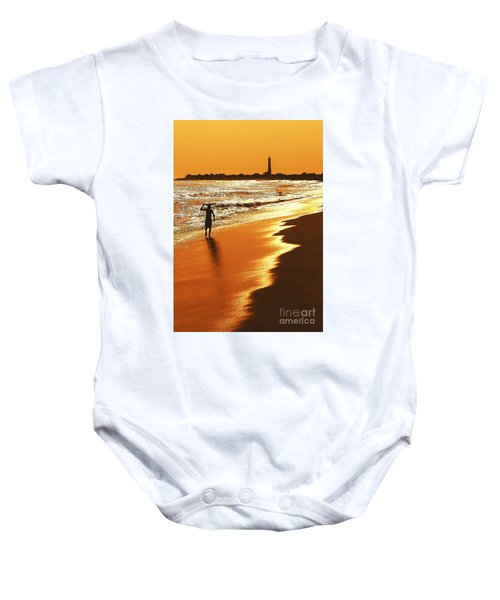 Sunset Surfer Baby Onesie
