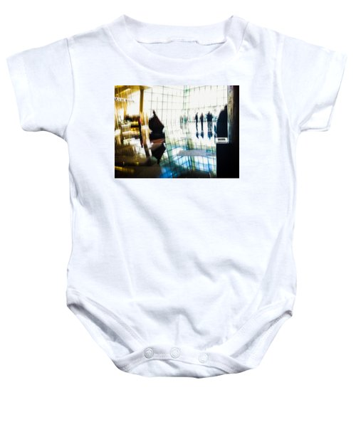 Baby Onesie featuring the photograph Suspended In Light by Alex Lapidus