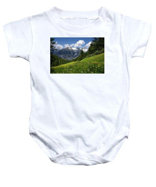 Switzerland Bietschhorn Baby Onesie