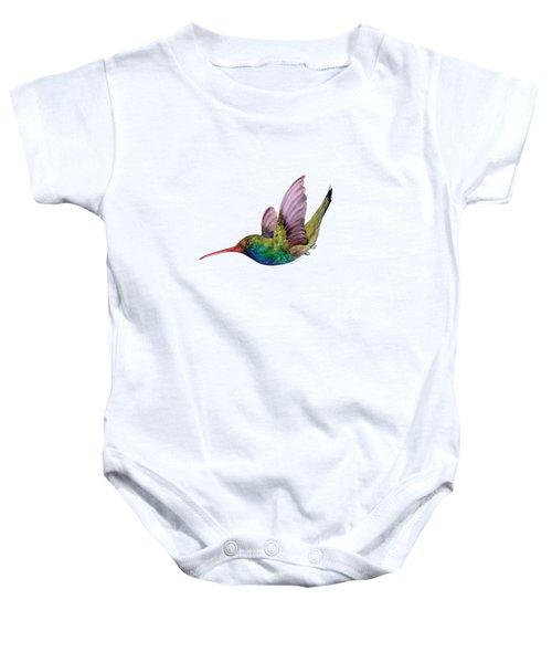Swooping Broad Billed Hummingbird Baby Onesie