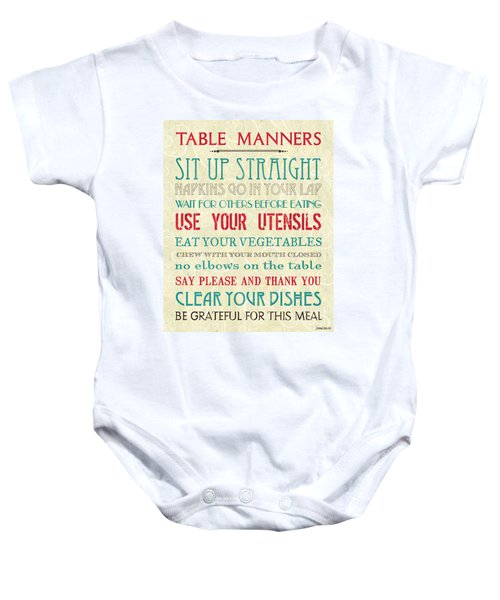 Table Manners Baby Onesie