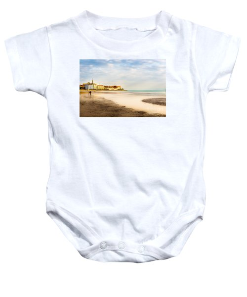 Take A Walk At The Beach Baby Onesie