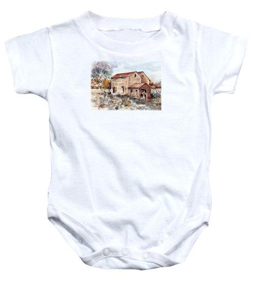Texas Barn Baby Onesie