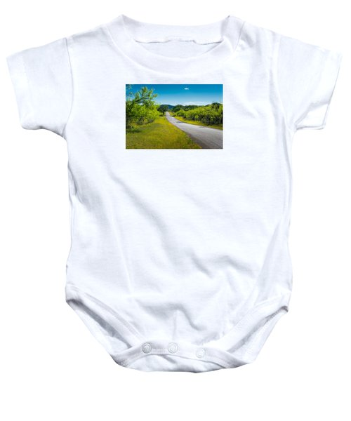 Texas Hill Country Road Baby Onesie