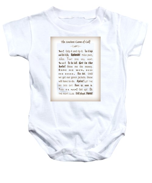 The Ancient Game Of Golf - Sepia Baby Onesie