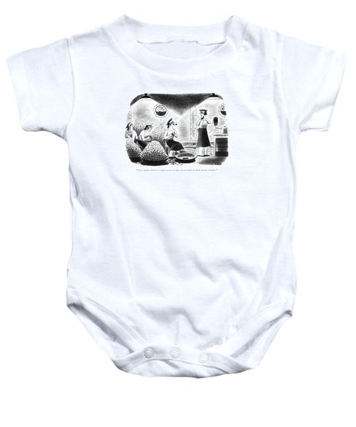 The Captain Thinks It Would Be Nice Baby Onesie by Richard Taylor