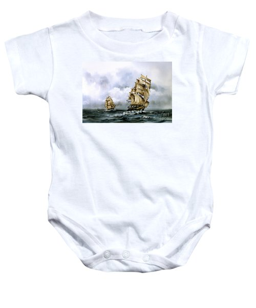 The Cutty Sark And The Red Clipper Baby Onesie