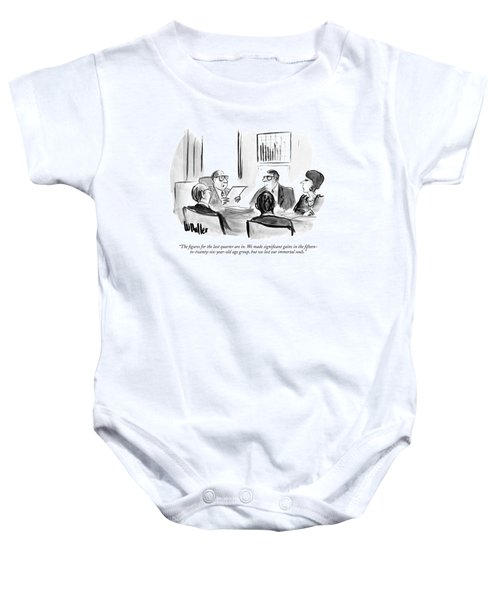 The Figures For The Last Quarter Are In. We Made Baby Onesie