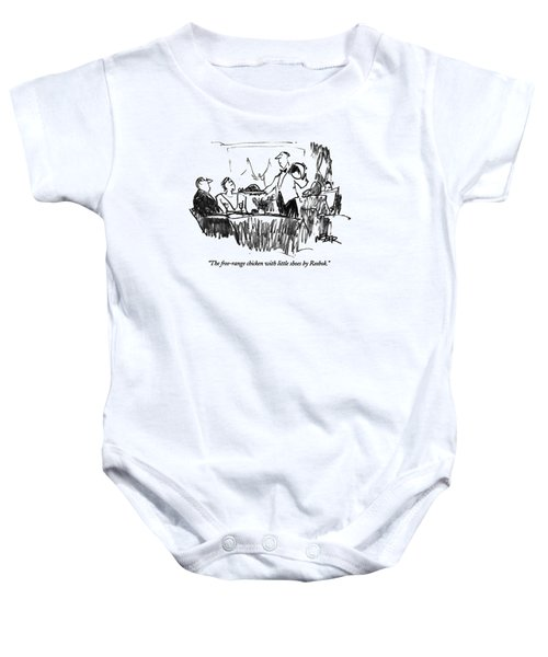 The Free-range Chicken With Little Shoes Baby Onesie