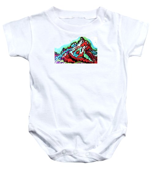The Grand From Jackson Lake Baby Onesie