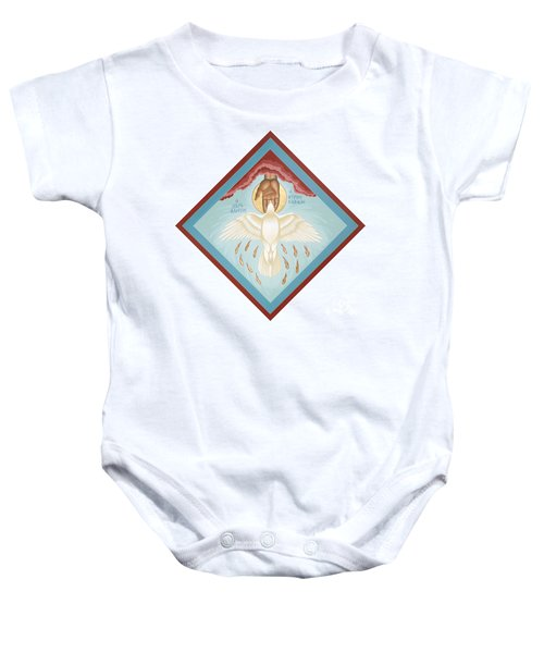 The Holy Spirit The Lord The Giver Of Life The Paraclete Sender Of Peace 093 Baby Onesie