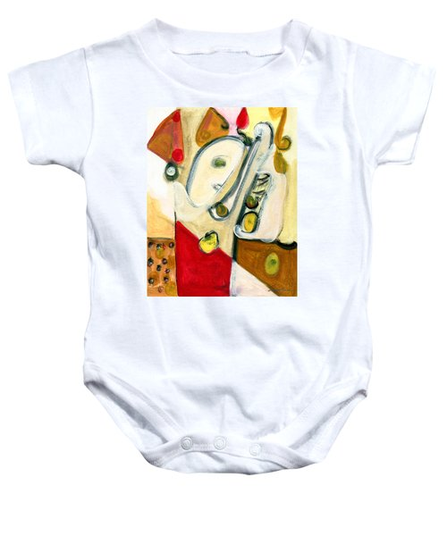 The Horn Player Baby Onesie