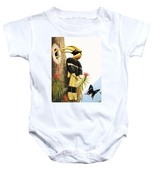 The Hornbill Baby Onesie by R.B. Davis