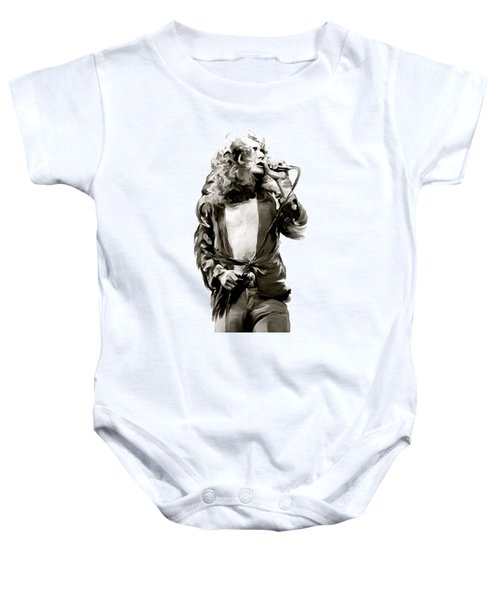 The Lion  Robert Plant Baby Onesie by Iconic Images Art Gallery David Pucciarelli