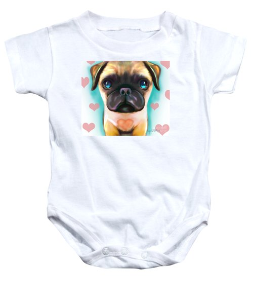 The Love Pug Baby Onesie