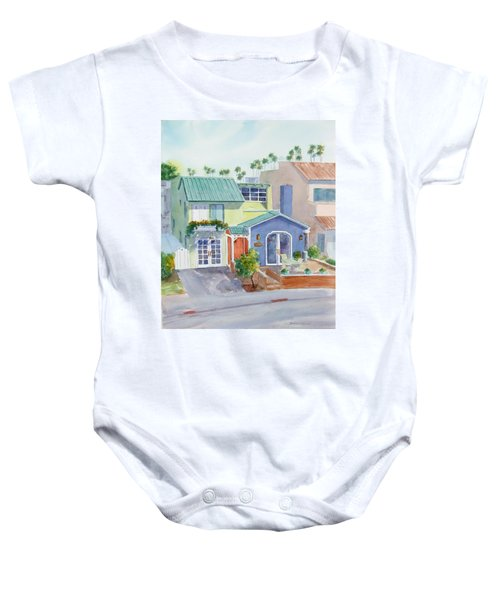 The Most Colorful Home In Belmont Shore Baby Onesie