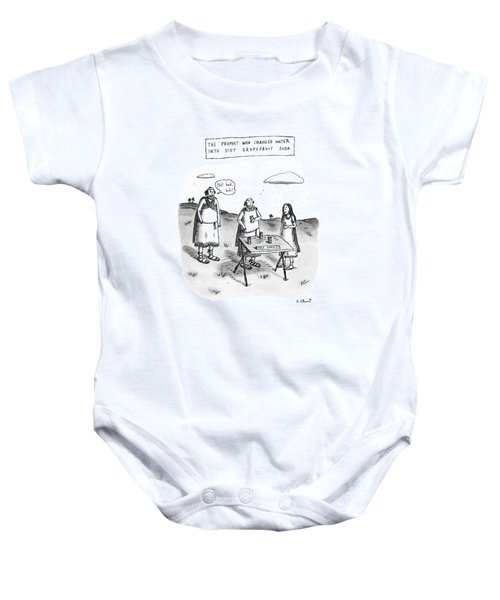 The Prophet Who Changed Water Into Diet Baby Onesie by Roz Chast