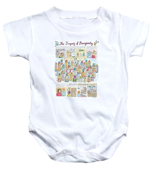 'the Tragedy Of Prosperity' Baby Onesie by Roz Chast