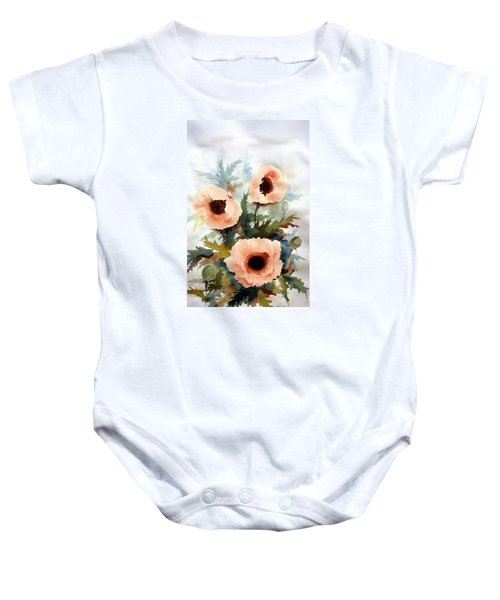 Three Poppies Baby Onesie