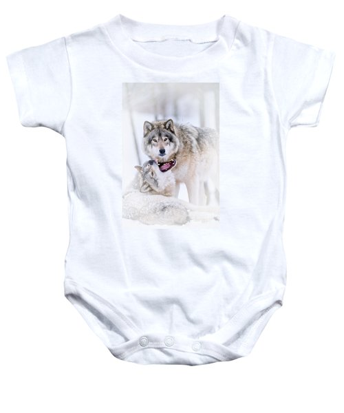 Timber Wolf Pictures 56 Baby Onesie