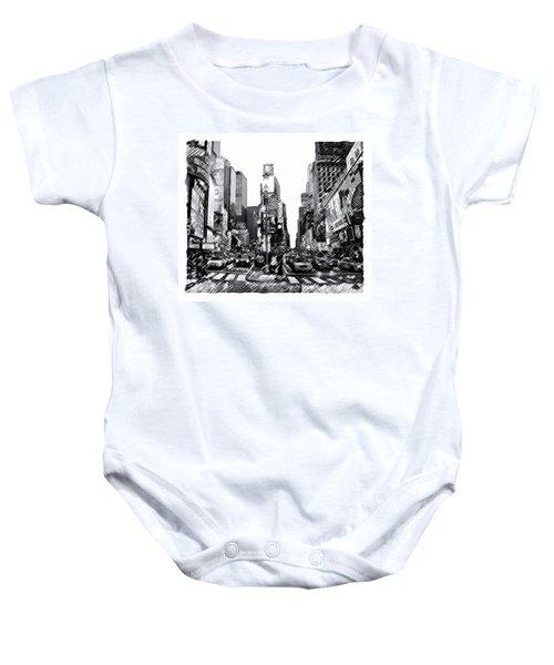 Times Square   New York City Baby Onesie